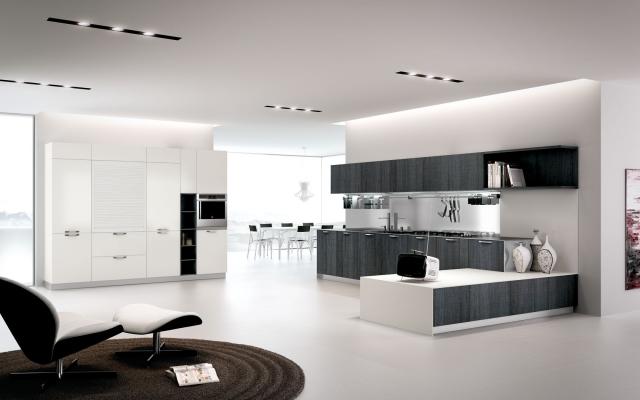 Cuisine blanche et grise  30 designs modernes et lgants