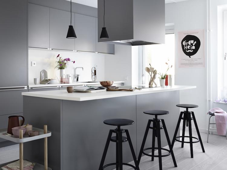 cuisine blanche et grise 30 designs