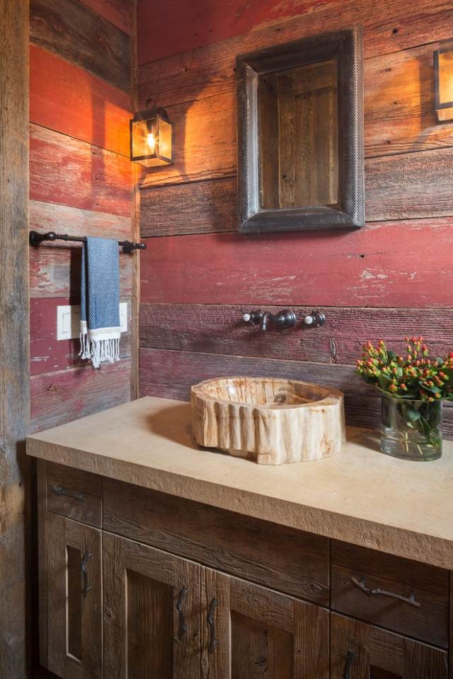 Meubles salle de bain et dcoration dans le style rustique