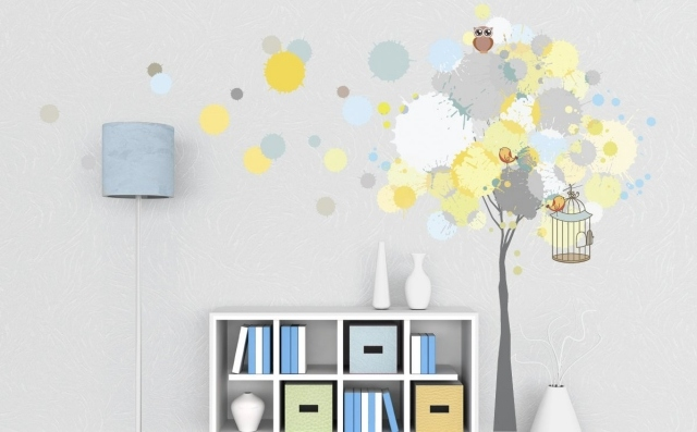 Stickers chambre bebe belles idees de decoration murale for Decoration murale chambre bebe
