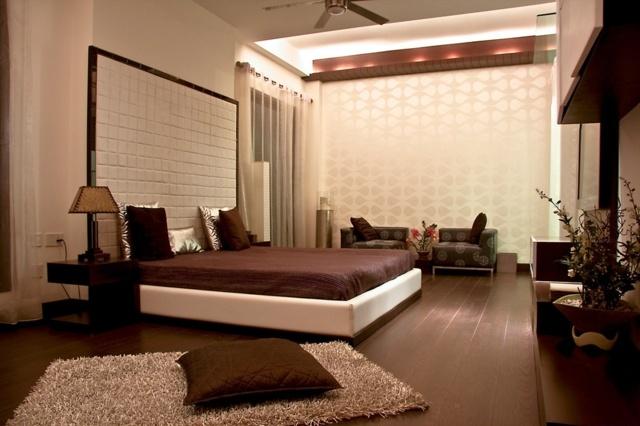 Dcoration de chambre  55 ides de couleur murale et tissus