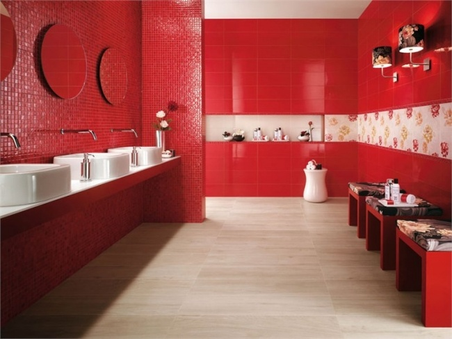 Carrelage Mural Rouge Pour Cuisine. Great With Carrelage Mural Rouge