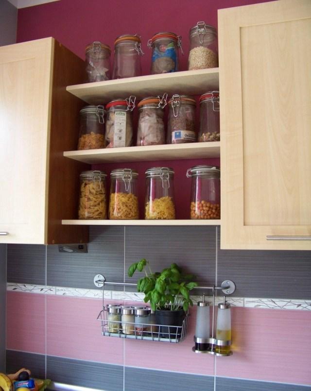 meuble cuisine couleur aubergine