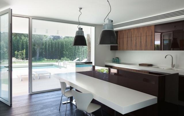 99 ides de cuisine moderne o le bois est  la mode