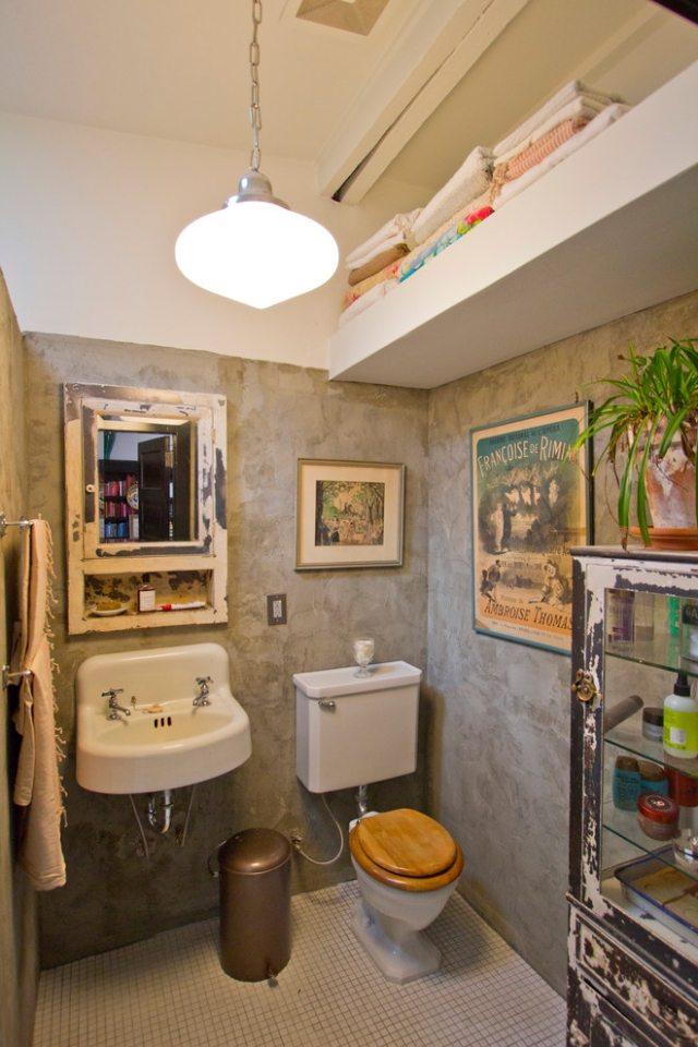 Amnagement toilettes vintage
