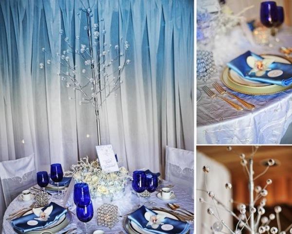 Dcoration table pour Nol  le thme sur lhiver  la maison