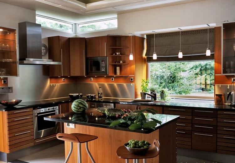 ide cuisine avec ilot central 21 ides de cuisine pour votre loft idees cuisine cuisine avec. Black Bedroom Furniture Sets. Home Design Ideas