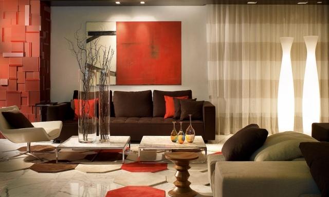 excellent deco salon avec canape rouge with deco salon avec canape rouge