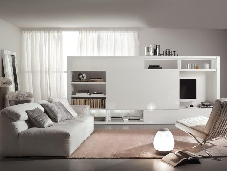 Meuble de salon design en blanc  20 ides lgantes