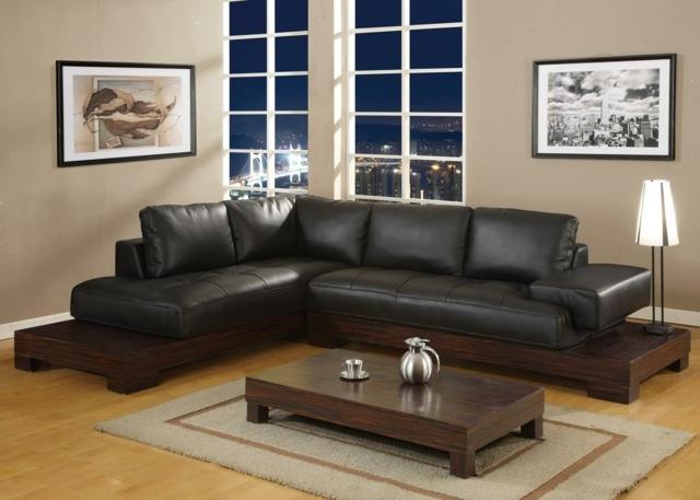 living room color schemes black leather couch broyhill sets peinture salon marron – 28 idées magnifiques pour l'intérieur