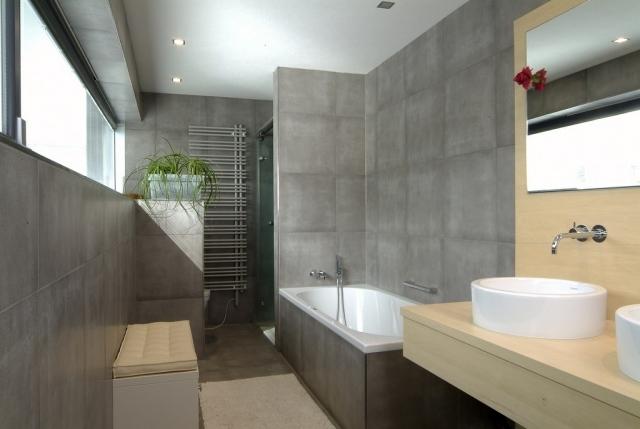 Badezimmer Beton Beige