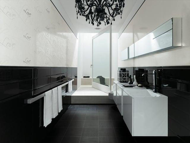 Salle De Bain Faience Noir Et Blanc: Photo deco salle de bain ...
