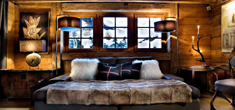 chambre a coucher de style rustique