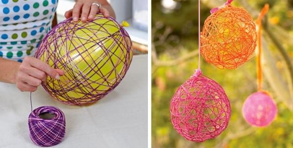 Dcoration de Pques avec ballons et ficelle idees