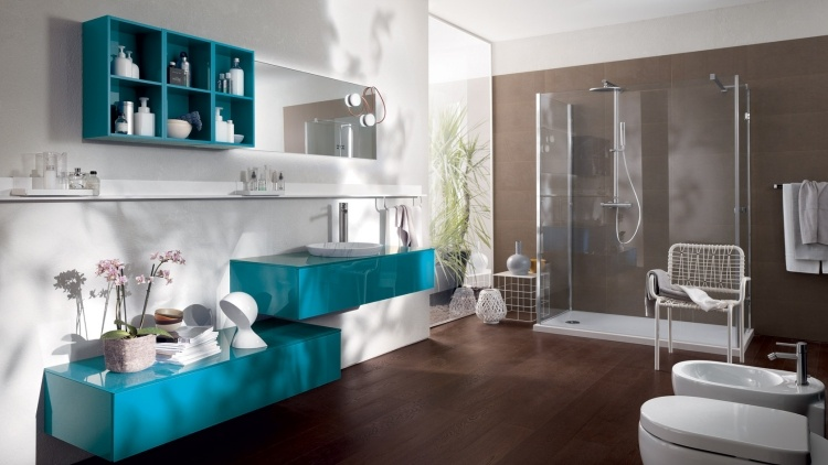 Beautiful Salle De Bain Turquoise Chocolat Images - Amazing House ...