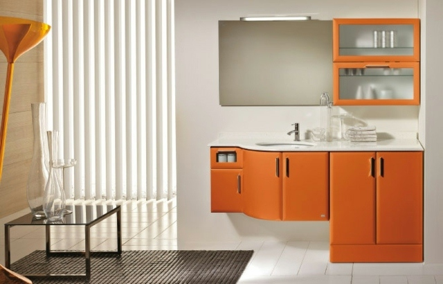 Meuble Salle De Bain Orange | Salle De Bain Orange : 54 ...