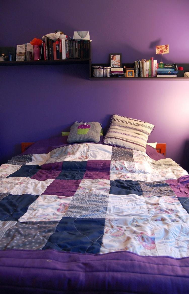 Peinture murale quelle couleur choisir chambre  coucher