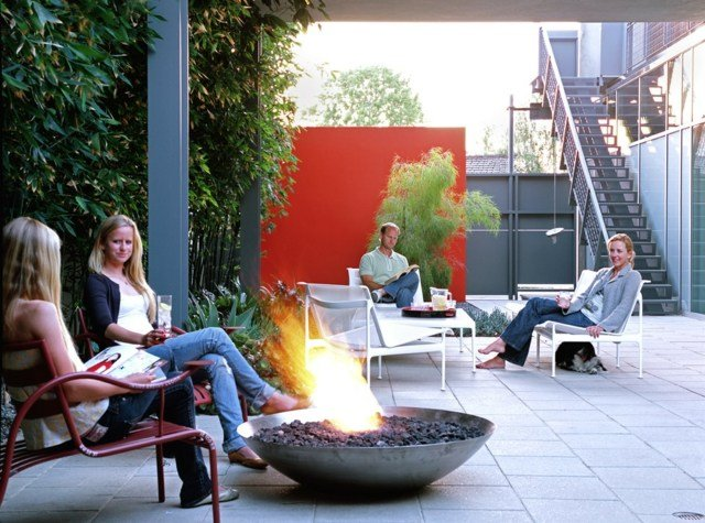 Foyer extrieur ultime le brasero de jardin de design moderne