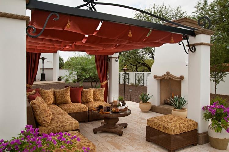 rideaux exterieur sur la terrasse pour