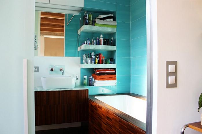 Aménagement Salle De Bains Turquoise, Rose Orange 25 Idées