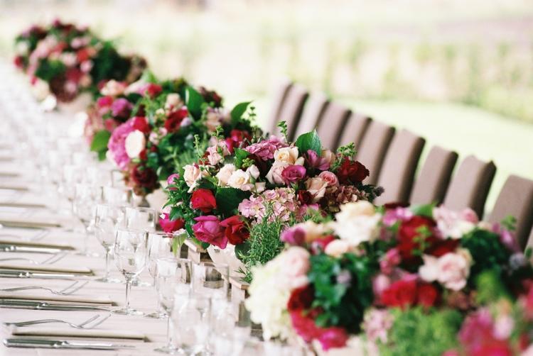 Dcoration table mariage rectangulaire champtre ou vintage