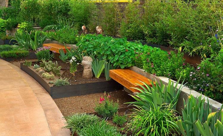 Petit Banc De Jardin En Bois Pierre Ou Mtal 52 Ides