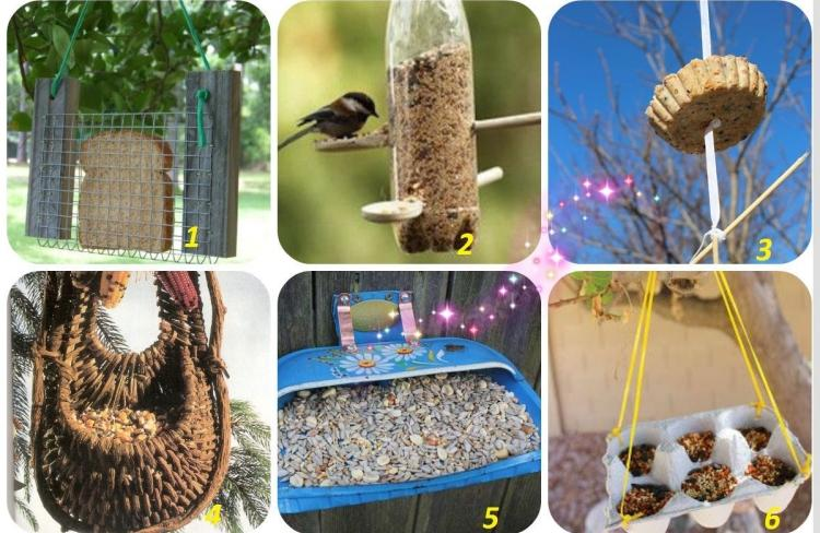 Diy Bricolage Mangeoire Oiseaux Jardin