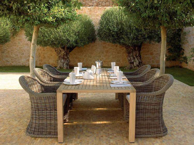 Salon De Jardin En Osier Naturel | La Chaleur Du Style ...