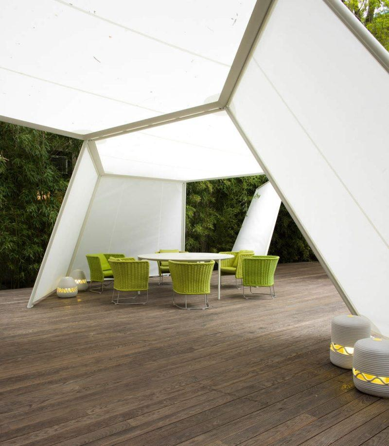 Tente de jardin design original Pavillon par Paola Lenti