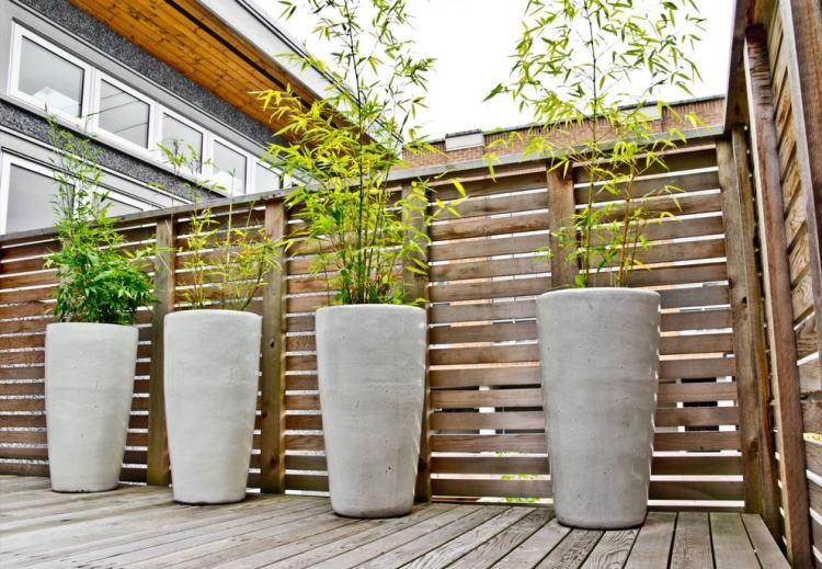 S Design Exterieur Terrasse Jardin Deco Bambou Pot Brise Vue Deco