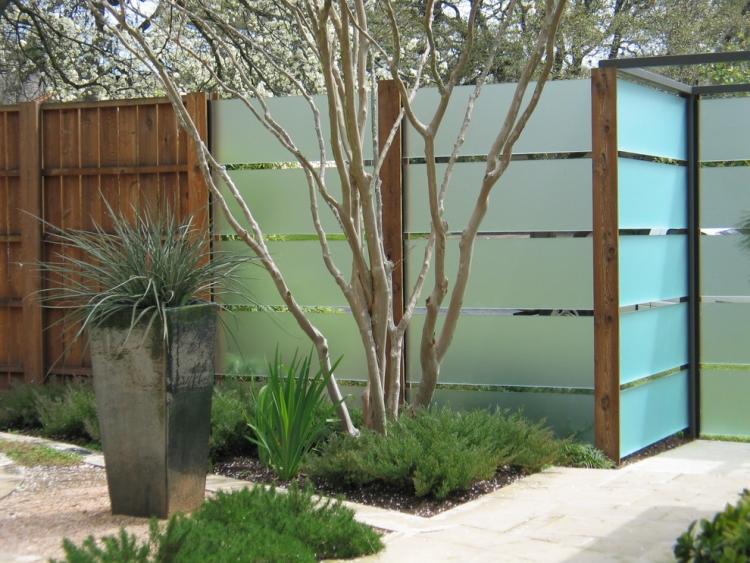 La clture jardin moderne accent qui garantit bonne protection