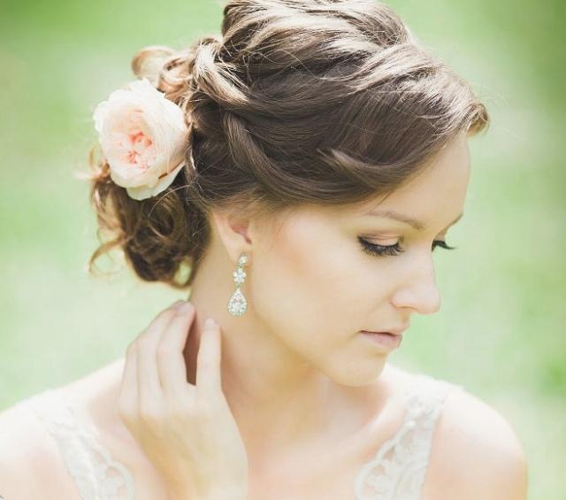 55 ides romantiques de coiffure mariage cheveux longs