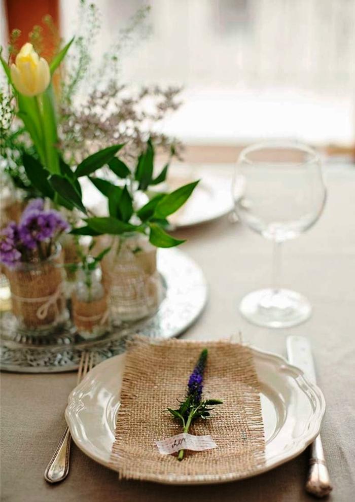 Dco mariage au printemps 16 ides pour votre table de fte