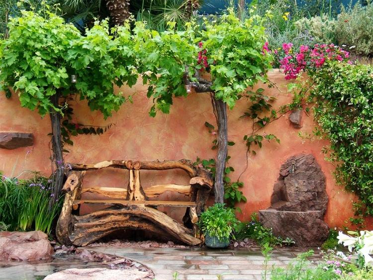 decoration jardin en objets de