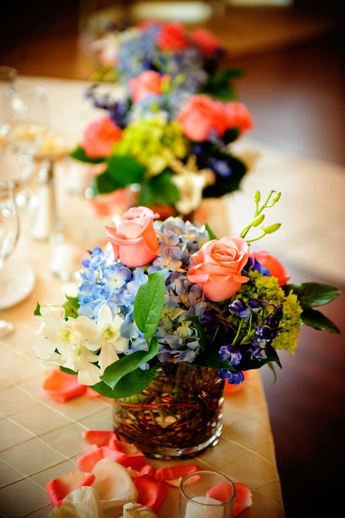 Hochzeitsdeko Sommerblumen