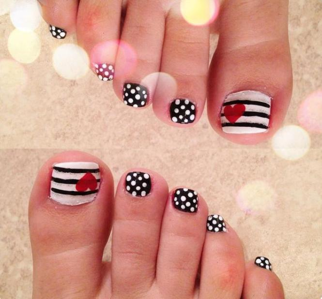 Pose D Ongle Gel French Fantaisie Noire Str Argente Decoration Nail Art A Main Levee Ongles