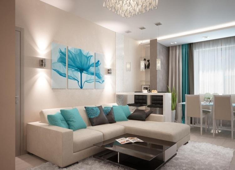 Palette de couleur salon moderne froide chaude ou neutre