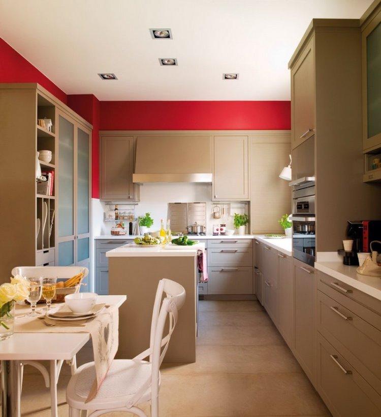 Peinture Cuisine Et Combinaisons De Couleurs En Id Es Cuisine Peinture Rouge