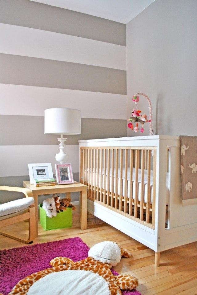 baby kinderzimmer wandgestaltung im babyzimmer ideen interieur ... - Wandgestaltung Im Babyzimmer Ideen Interieur Bilder