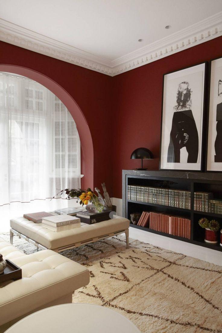 Peinture murale dans le salon et ides de dco en 25 photos