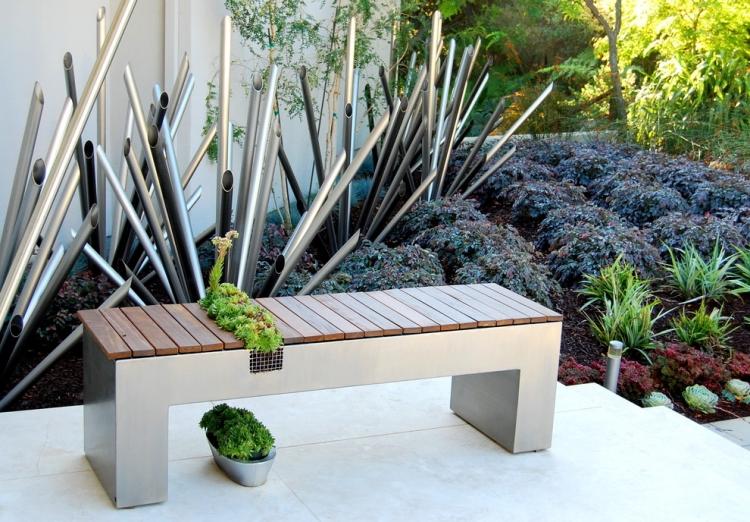 Table De Jardin En Bois Avec Banc Integre Deco Maison Design ...