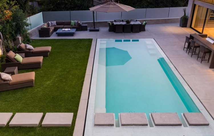 Amnagement piscine de jardin ides et photos inspirantes