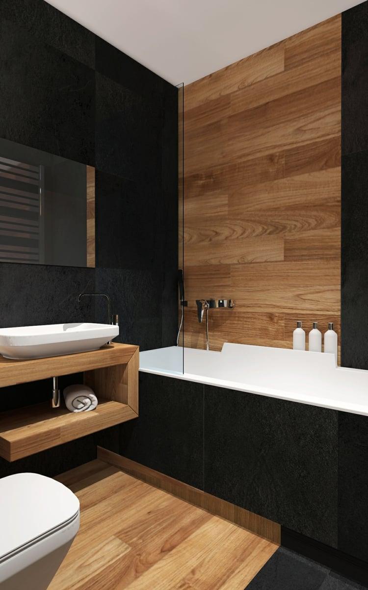 Carrelage salle de bain imitation bois  34 ides modernes