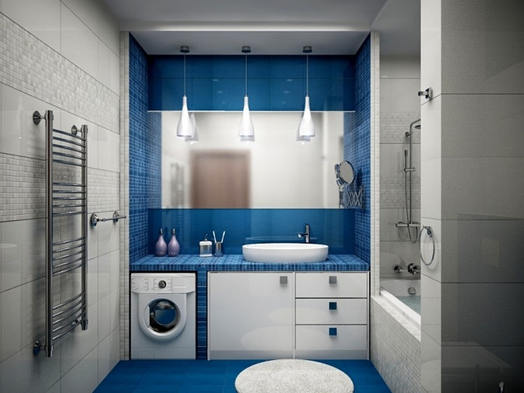 Idee Deco Salle De Bain Bleu Et Blanc | Ld-motnikspitalic.si