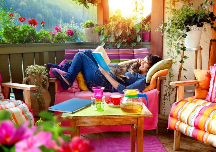 Dcoration extrieur  couleurs et mobilier en harmonie