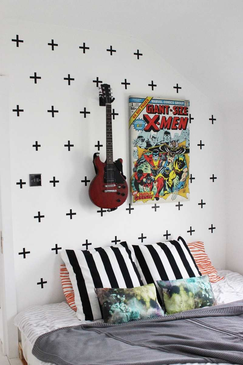 Dcoration murale avec masking tape en 25 ides fantastiques