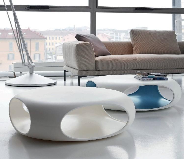Table Basse Design En Blanc Idees Brillantes Super Tendance
