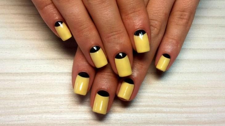 vernis-shellac-original-jaune-noir-ongles-ovales