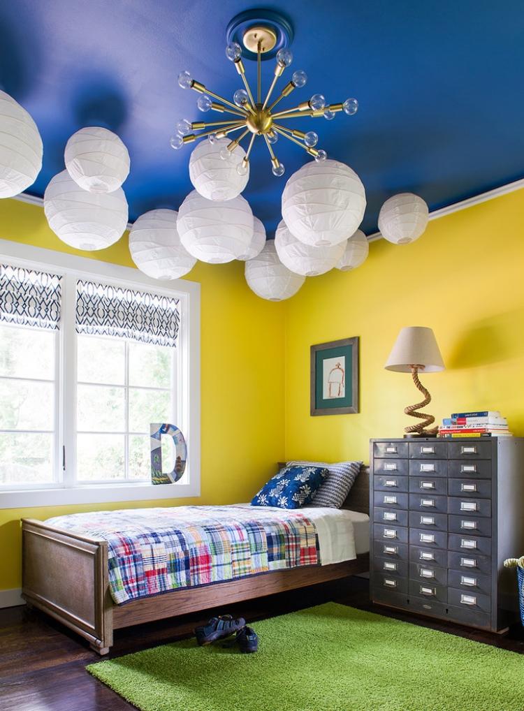 Chambre enfants dans le langage des couleurs 60 ides dco