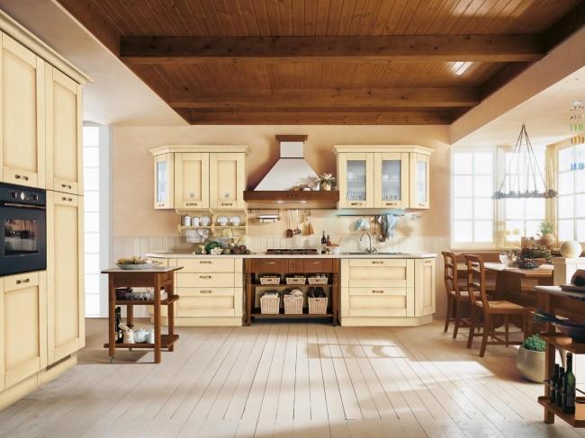 Cuisine en bois classique CucineLube avec une touche luxe